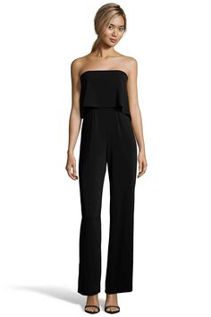 29cd62b830b MOORE Strapless Jumpsuit from Jay Godfrey Black Strapless Jumpsuit