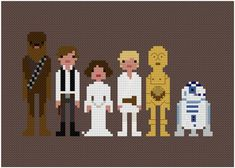 The Original Pixel People Star Wars A New par weelittlestitches