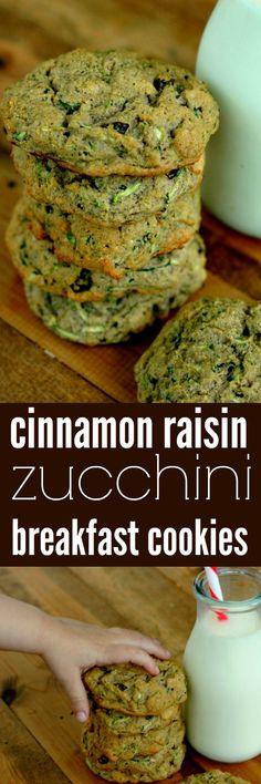Paleo Cinnamon Raisin Zucchini Breakfast Cookies