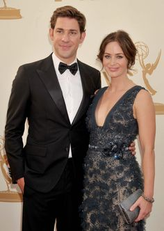Pin for Later: Relive the Star-Studded Emmys' Most Exciting Moments!  John Krasinski and Emily Blunt made a dashing duo in 2011.