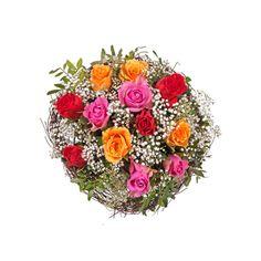 """Pflanzen-Kölle Blumenstrauß """"Mit Liebe"""".  Mit unserem exklusiven Floristik-Strauß """"Mit Liebe"""" verschenken Sie große Gefühle und einen herzerwärmenden Blickfang. Blumendeko zaubert flugs ein wohnliches Interieur in Euer Zuhause, verströmt einen tollen Duft und wird Euch sicher lange Freude bereiten."""