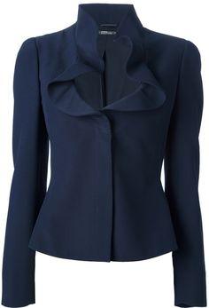 Alexander Mcqueen ruffle Collar Jacket - Lyst