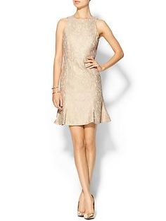 Beige Nude 4.collective Fitted Fluted Hem Dress | Piperlime $200