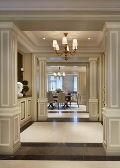 interior design ideas to bring luxury and opulence into your house # Classic Interior, Luxury Interior, Home Interior Design, Interior And Exterior, Interior Decorating, Room Interior, Decorating Ideas, Floor Design, Ceiling Design