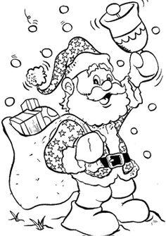 Santa Claus Happy Christmas Coloring Page