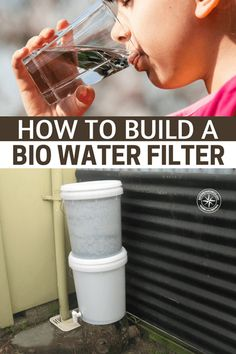 This is a great DIY option to learn about in the event SHTF and you need a clean water filtration system larger than a Lifestraw. As you can see by the picture the water filters through three separate layers, gravel, sand and activated charcoal. Water Filtration System, Water Systems, Water Collection System, Charcoal Water Filter, Whole House Water Filter, Water Storage, Water Conservation, Useful Life Hacks, Just In Case