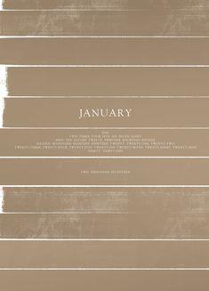 January Minimal Calendar - Download at Cocorrina