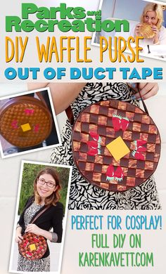 Even though Parks & Rec is over, you can still channel Leslie Knope with this DIY Waffle Purse made out of duct tape! (Bacon duct tape, no less). It's easier than you'd think!