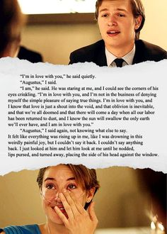 The Fault in Our Stars, one of the most amazing books you will EVER read!! I promise you.