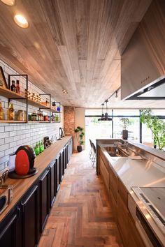 Restaurant Kitchen Design, Restaurant Interior Design, Diy Interior, Cafe Design, House Design, Julie's Kitchen, Cafe Style, Industrial House, Japanese House