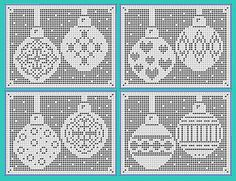 Christmas Bauble Charts - Hearts and Diamonds by Michelle Ryan