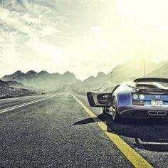 Beautiful - Bugatti Veyron and an open road