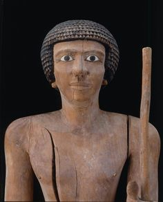 Wooden statue of Wepwawetemhat (detail). First Intermediate to Middle Kingdom, probably 1, 2140 - 1991 B.C.   Museum of Fine Arts, Boston