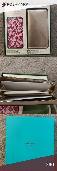 ♠️KATE SPADE ♠️UNIVERSAL WRISTLET & IPHONE 6S PLUS New in box, never used. Gift box includes universal wallet which has a slot dedicated for your phone, 3 credit card slots, and to compartments for cash or receipts. Also, it comes with a Iphone 6s Plus case. If you have any other questions please let me know. PRICE IS FIRM, NO TRADES! kate spade Bags Wallets