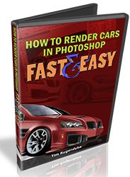 How To Render Amazing 3D Cars in Photoshop ... In Less Than 60 minutes ... GUARANTEED