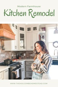 A complete kitchen renovation. Modern farmhouse touches on this home built in the 1800s. Modern Farmhouse Kitchens, Building A House, Homesteading, Kitchen Remodel, Updated Kitchen, Kitchen Remodeling
