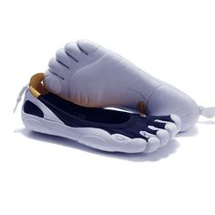 hot sale online d7951 ad86c Vibram Fivefingers Classics Blue   White - Barefoot running shoes are  changing the way we look