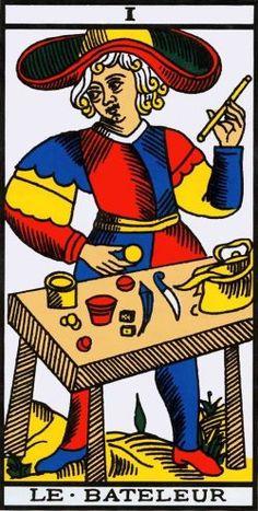 O Mago no Tarot de Marseille - Grimaud Le Bateleur, Tarot Significado, Major Arcana Cards, Free Tarot Reading, Daily Tarot, Radios, Tarot Decks, The Magicians, Fictional Characters