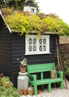 Things You Will Need To Know Before You Build Backyard Shed Backyard Sheds, Backyard Retreat, Garden Sheds, Diy Shed Kits, Living Roofs, House Plants Decor, Potting Sheds, Mosaic Garden, Garden Structures