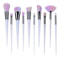 Amazon.com: Ammiy Unicorn Makeup Brushes Set Fantasy Makeup Tools Foundation Eyeshadow Unicorn Brushes Kit With a Cute Carrying Case (10Pcs, USA Based Fast Shipping It Will Take 3-5 Working Days To Get delivered): Beauty