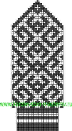 Схемы северных узоров для вязания варежек спицами