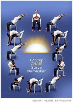 Yoga terapia estiramientos on pinterest chair yoga yoga and google