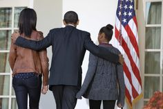 President Barack Obama walks with daughters Sasha and Malia as they return to the Oval Office of the White House in Washington, Wednesday, Nov. 21,2 012, after he pardoned Cobbler a 19-week old, 40-pound turkey, on the occasion of Thanksgiving, in the Rose Garden. (AP Photo/Jacquelyn Martin)                                     via @AOL_Lifestyle Read more: http://www.aol.com/article/2016/03/03/obama-says-hell-stay-in-d-c-after-leaving-white-house/21322582/?a_dgi=aolshare_...