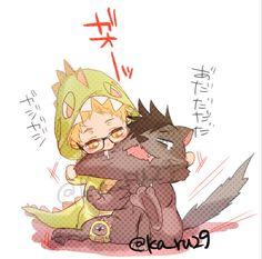   Haikyuu!!   Tsukishima and Kuroo o3o