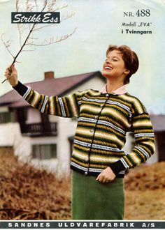 Eva 488 S Old Magazines, Color Combinations, Knitting Patterns, Men Sweater, Sweaters, Vintage, Colour, Fashion, Color Combos