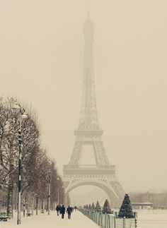 Love this picture of Paris when it's snowing.