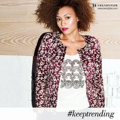 No matter what you do, always keep trending!  Balmain camisole, Isabel Marant jacket