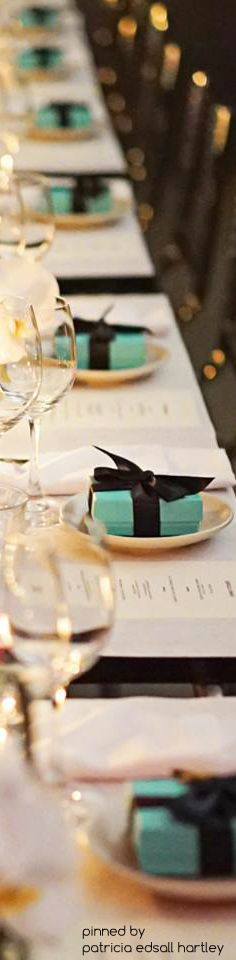 The perfect table setting with a Tiffany box.