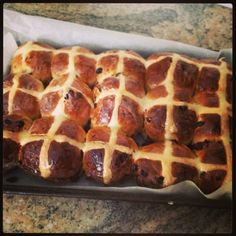 I consider myself a hot cross bun purist (of sorts). They shouldn't have chocolate chips, icing, or cranberries. They must have sultanas. And they certainly shouldn't be eaten two weeks after Chris...