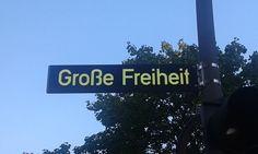 Straßenschild Große Freiheit in Hamburg St. Pauli