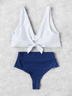 Knot Front Mix & Match Tankini Set