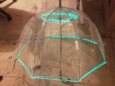 UFO canopy is a clear umbrella with luminescent wire (battery powered).
