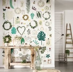 Green Life Panel by Caselio - Multi - Mural : Wallpaper Direct Art Et Architecture, Wall Panel Design, Collage Design, Wall Wallpaper, Wallpaper Wallpapers, Green Life, Kid Spaces, Cool Walls, Showroom