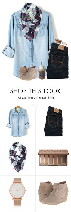 """""""{red lips and rosy cheeks}"""" by classychic03 ❤ liked on Polyvore featuring Abercrombie & Fitch, Urban Decay, Joes, Larsson & Jennings and TOMS"""