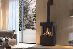 Attractive three-sided, freestanding gas fire the new DRU Polo gas fire is an at… – Freestanding fireplace wood burning Decor, House, Gas Fires, Home, Gas Stove, Fireplace Design, Freestanding Fireplace, Fireplace Mantels, Fireplace