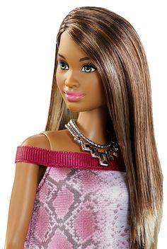 Mattel Barbie DGY56 - Modepuppe, Fashionista im Schlangenmuster-Look: Amazon.de: Spielzeug