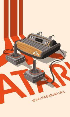 atari - Video Games - Ideas of Video Games - atari Vintage Video Games, Retro Video Games, Vintage Games, Video Game Art, Classic Video Games, Arcade Retro, Retro Gamer, Bartop Arcade, Gaming Posters