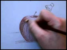 ▶ Colored Pencil Drawing of an Apple Part 1 - YouTube