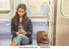 ethnic girl on subway