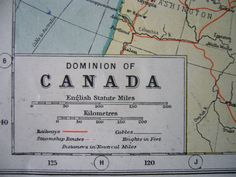 Canada Map  Original 1920s Vintage  Harmsworth's by Thepapermuseum, $12.00