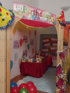 Birthday Party Role Play Corner @Acorns Nursery Bucharest