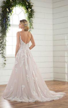 D2363 Modern Boho Wedding Dress by Essense of Australia