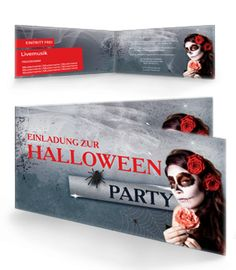 Halloween-Party Karte. #halloween #halloweenfeier #halloweenparty