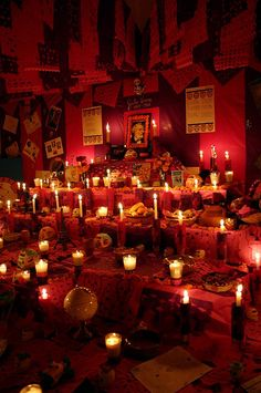 dia de los muertos ~ Altar in rememberance of family and loved ones that have passed on.