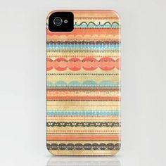 Scrapbook Pattern iPhone Case by haleyivers | Society6