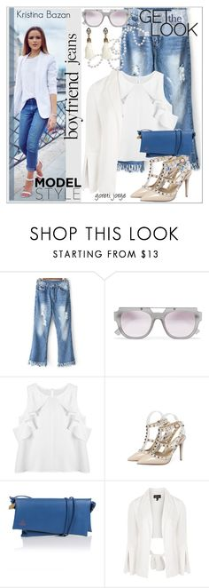 """""""Kristina Bazan - Model style -  """"Zaful"""""""" by goreti ❤ liked on Polyvore featuring Le Specs, Vivienne Westwood and Topshop"""